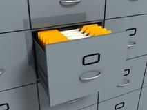 yellow för kontor för skåparkiveringsmappar royaltyfri illustrationer