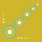 yellow för modell för hjärta för blommor för fjärilsdroppe blom- Royaltyfri Bild