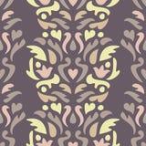 yellow för modell för hjärta för blommor för fjärilsdroppe blom- Sömlös abstrakt dekorativ bakgrund Royaltyfri Fotografi
