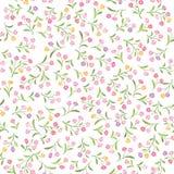 yellow för modell för hjärta för blommor för fjärilsdroppe blom- seamless bakgrundsblomma Dekorativ krusidull Fotografering för Bildbyråer