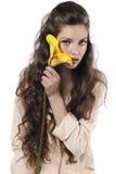 yellow för ny flicka för calla nätt Arkivfoto