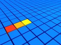 yellow för orange red Arkivfoto