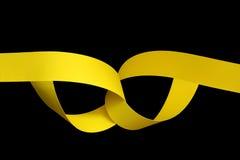 yellow för paper remsor Arkivbilder