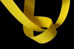 yellow för paper remsor Arkivfoton