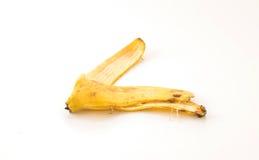 yellow för peel för bakgrundsbanan frukt isolerad vit Royaltyfri Foto