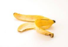 yellow för peel för bakgrundsbanan frukt isolerad vit Fotografering för Bildbyråer