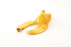 yellow för peel för bakgrundsbanan frukt isolerad vit Arkivfoto