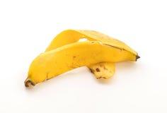 yellow för peel för bakgrundsbanan frukt isolerad vit Arkivfoton