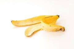 yellow för peel för bakgrundsbanan frukt isolerad vit Royaltyfria Foton