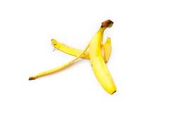yellow för peel för bakgrundsbanan frukt isolerad vit Arkivbild