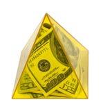 yellow för pengarströmpyramid royaltyfria foton