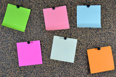 yellow för skugga för paper bana för clippinganmärkning klibbig Royaltyfri Foto