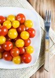 yellow för tomater för Cherryred Royaltyfri Foto