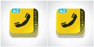 yellow för vektor för boksymbolstelefon Royaltyfri Bild