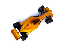 Yellow f1. Isolated yellow race car f1 Royalty Free Stock Image