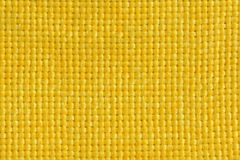 Yellow fabric. For backgrounds or textures Royalty Free Stock Photo