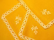 Yellow fabric Royalty Free Stock Images