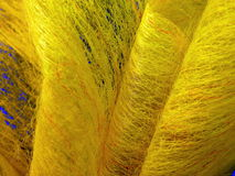 Yellow fabric abstract Stock Photos