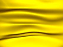 Yellow fabric background. Yellow soft fabric with folds Stock Photos