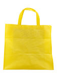 Yellow fabric bag isolated on white background Royalty Free Stock Photography