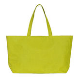 Yellow fabric bag isolated on white Royalty Free Stock Images