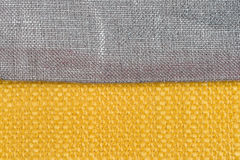 Yellow fabric Royalty Free Stock Photography