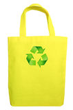 Yellow Fabric eco recycle bag Stock Photos