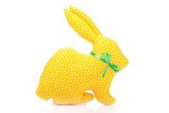 Yellow fabric rabbit Royalty Free Stock Photo