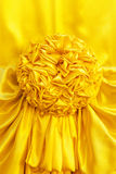 Yellow fabric ribbon Stock Images