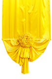 Yellow fabric ribbon. For ceremony isolated on white with clipping path Stock Images