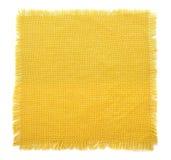 Yellow fabric sack. Isolated on white Stock Photos
