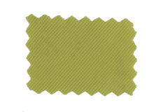 Yellow fabric swatch Stock Images