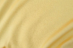 Yellow fabric texture Stock Photography