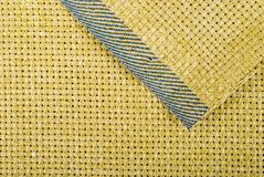Yellow Fabric texture Stock Images