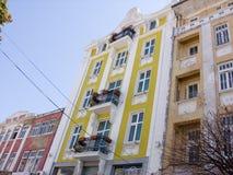 Yellow facade Stock Photos