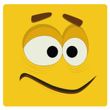 Yellow face Royalty Free Stock Photography