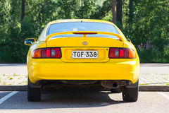 Yellow Facelift Toyota Celica GT car Royalty Free Stock Photography