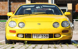 Yellow Facelift Toyota Celica GT liftback T200 Royalty Free Stock Photos