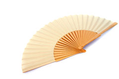 Yellow fan Royalty Free Stock Photography