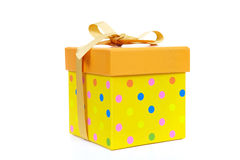 Yellow fancy box Royalty Free Stock Photography