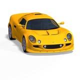 Yellow fantasy racing car Stock Image