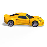 Yellow fantasy racing car Royalty Free Stock Images