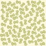 Yellow farfalle pattern Italian pasta. Vector Royalty Free Stock Photos