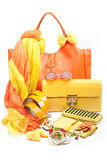 Yellow fashion accessories Stock Photography
