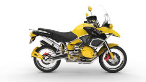 Yellow Fast Bike Royalty Free Stock Photos