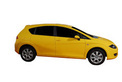 Yellow fast car Stock Photo