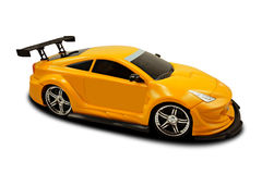Yellow fast sports car. Over a white background Royalty Free Stock Photos