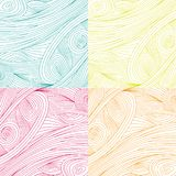 Yellow feather seamless pattern vector wallpaper Royalty Free Stock Photo