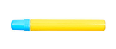 Yellow felt tip marker Royalty Free Stock Photos
