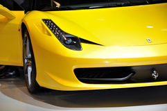 Yellow Ferrari. Stock Photography